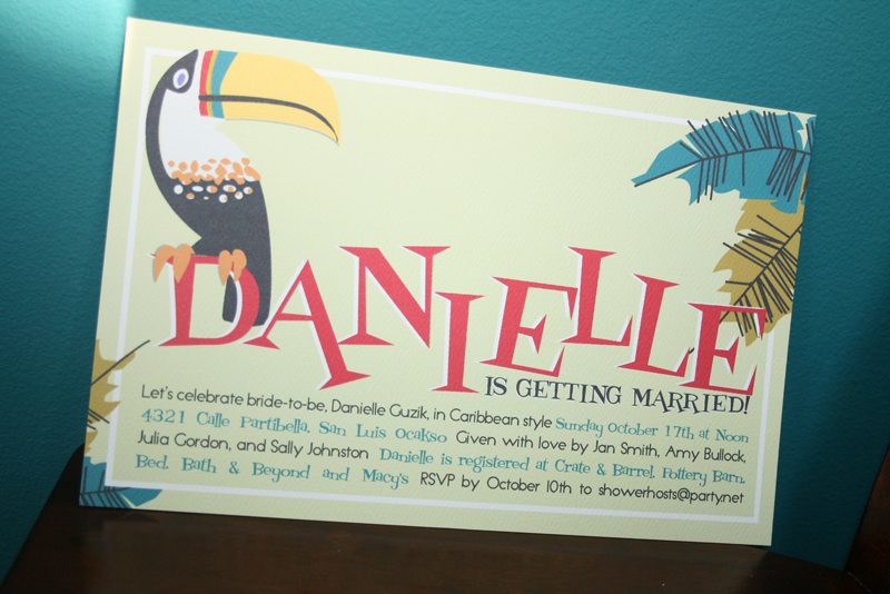last fall i had a flient again friendclientflient who needed invitations for a caribbean bridal shower she was hosting what a fun idea