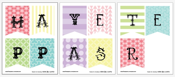 free easter banner printable