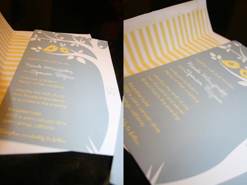 Yellow Grey Wedding Invitations: How To Word A Dutch Invitation