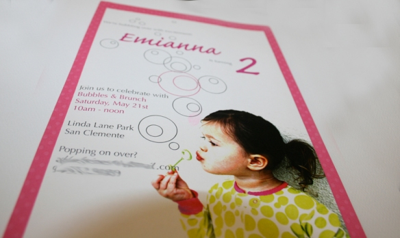 2nd Birthday Party Bubbles Theme – Bubble Invitations Birthday
