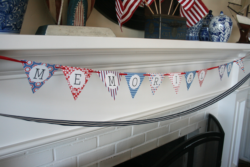 free printable red white and blue banner cakes likes a party