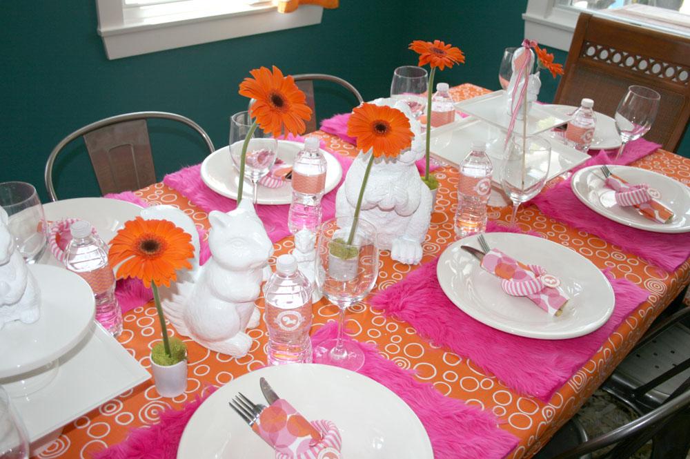 Baby Showersprinkle Orange Pink White Squirrels Cakes
